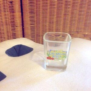 Vtg Disney Caribbean Beach resort shot glass NWOT